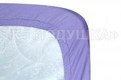 Трикотажная простынь на резинке «Фиолетовая»